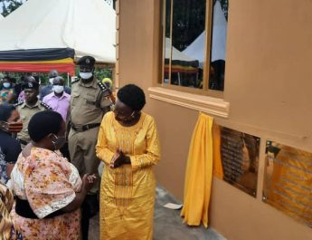 Dr.Jane Ruth Aceng commissioning Mwintanzige HCII