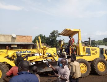 commissioning of road construc tion in Kyaterekera