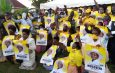 Team Thorough in door to door campaign to canvas votes for Museveni, NRM flag bearers